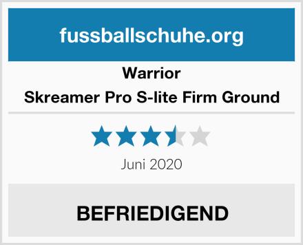 Warrior Skreamer Pro S-lite Firm Ground Test