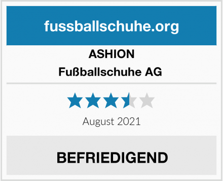 ASHION Fußballschuhe AG  Test