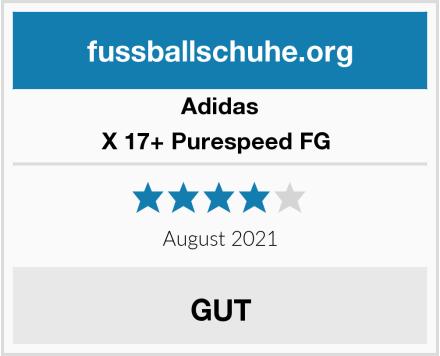 Adidas X 17+ Purespeed FG  Test