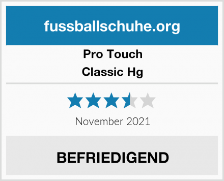 Pro Touch Classic Hg Test