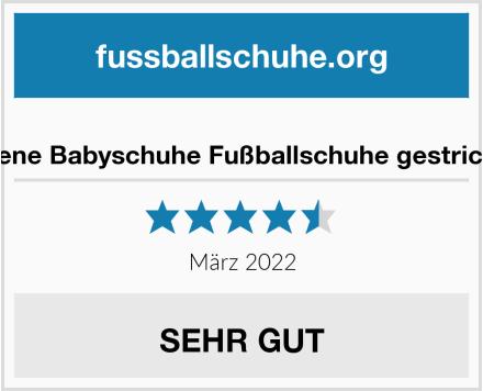 No Name strickliene Babyschuhe Fußballschuhe gestrickt weiß Test