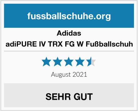 Adidas adiPURE IV TRX FG W Fußballschuh Test